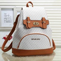 Michael Kors MK Women Casual Shoulder School Bag Leather Backpack