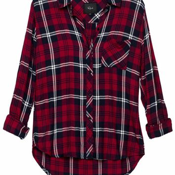 Rails Hunter Plaid Shirt in Cherry/Navy/White