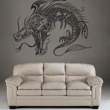 ik1593 Wall Decal Sticker Dragon mythical animal living bedroom teens