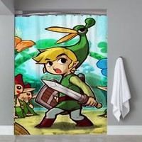 Top Famous Games Legend Of Zelda Triforce Shower Curtain Limited Edition