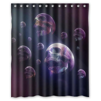 Purple dream skulls custom Shower Curtain Bathroom decor fashion design