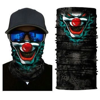 Riding Funny 3D Face masks Motorcycle Sport Dustproof CS Masks Sports Skiing Face Balaclava Hunting Fishing Windproof Scarf Mask