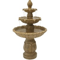 Sunnydaze Classic Tulip 3 Tier Outdoor Garden Fountain