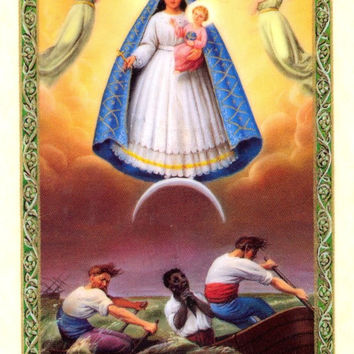 Our Lady Of Charity Prayer Card