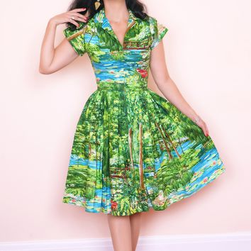 Kelly Dress in Happy Valley Print