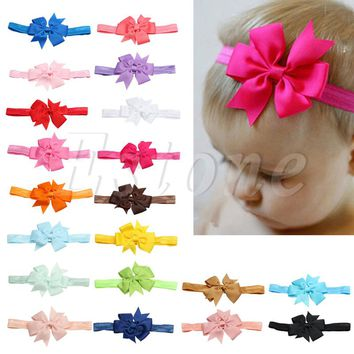 10PCS Headband Kids Girl Baby Toddler Bow Flower Hair Band Accessories Headwear