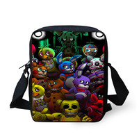 Children School bags Cartoon five nights at freddy's printing bags, Small Shoulder Bags For Kids Girls&Boys,Mochilas Infantil