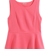 H&M+ Sleeveless Peplum Top - from H&M