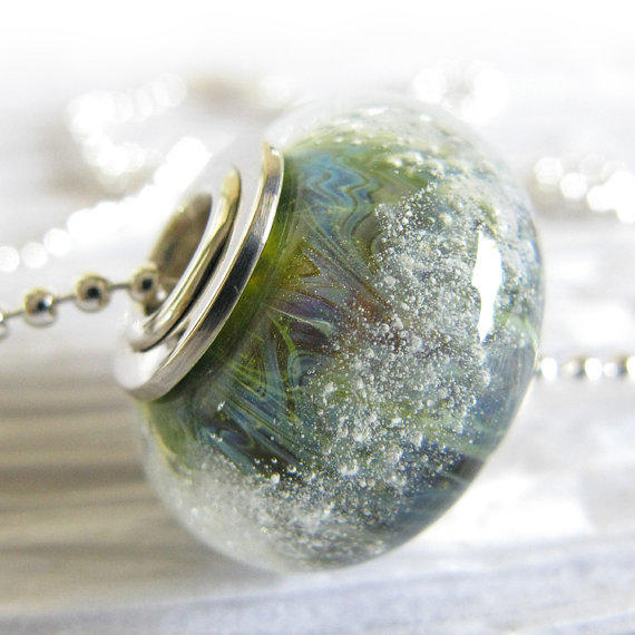 Glass memorial cremation jewelry simple from lockedinart for Cremation jewelry for pets ashes