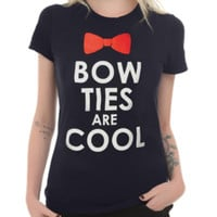 Doctor Who Bow Ties Are Cool Girls T-Shirt