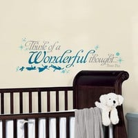 Disney Peter Pan ''Wonderful Thought'' Wall Decals (Blue)