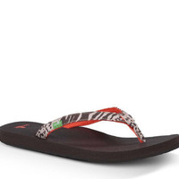 Sanuk Yoga Joy Exotic Cheetah Flip Flops