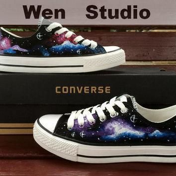 sale galaxy converse design galaxy shoes hand painted shoes converse shoes custom pai