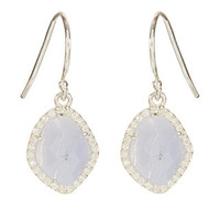 Sterling Silver Nova Semi Precious Earrings | Blue | Accessorize