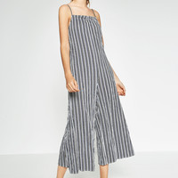 STRIPED JUMPSUIT WITH BOW - JUMPSUITS-TRF | ZARA United Kingdom