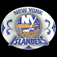 New York Islanders NHL Enameled Belt Buckle
