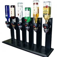 Six Bottle Upside Down Bottle Dispenser