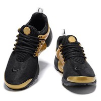 Nike Air Presto Classic Women Men Casual Running Sneakers Sport Shoe Black Gold I