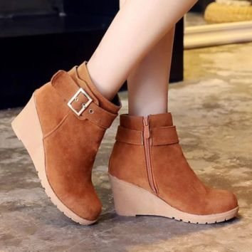High Heel Ankle Boots | Wedge Heel Ankle Boots