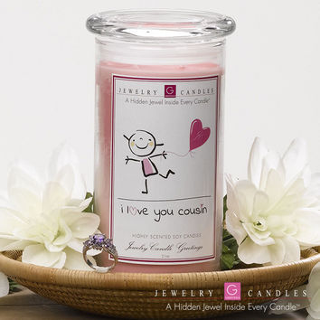 I Love You Cousin - Jewelry Greeting Candles