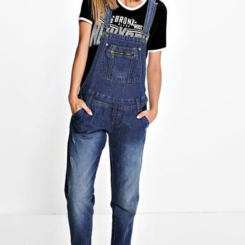 Stacy Denim Dungarees | Boohoo