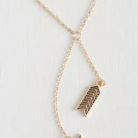 Boho Arrowhead of the Class Necklace by ModCloth