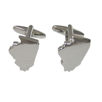 Illinois State Map Shape Cufflinks