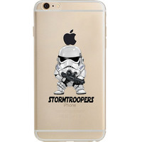 """Star Wars Storm Trooper Jelly Clear Case for Apple iPhone 6/6s PLUS (5.5"""")"""