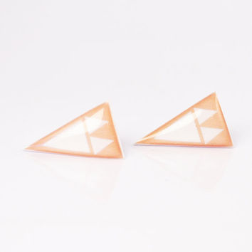 Sand Mini Arrowhead Post Earrings Hypoallergenic by DittyDrops