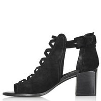 JENNIFER Lattice Mid Shoes - Black