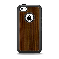 The Dark Walnut Wood Apple iPhone 5c Otterbox Defender Case Skin Set