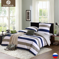 Naturelife Bedding Set Cotton Cover Bed Sheet Duvet Cover Sets Comforter 4pcs