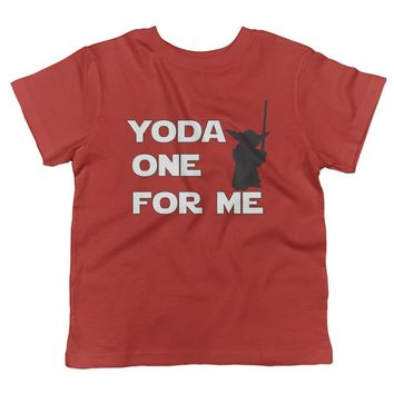 Yoda One For Me Valentine's Day Toddler T-Shirt