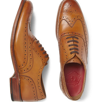 Grenson Dylan Leather Wingtip Brogues | MR PORTER