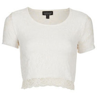 Short Sleeve Lace Crop Top - Style Steals  - New In