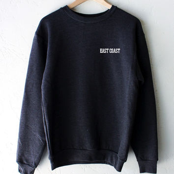 East Coast Oversized Sweater - Dark Heather Grey