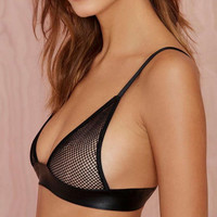 Gauze Hollow Out Strap Underwear Lingerie Bra