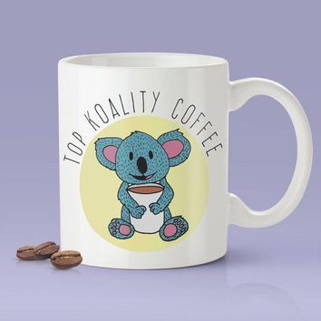 Top Koality Coffee [Gift Idea - Makes A Fun Present / Gift For Him / Gift For Her] Cute Koala Mug