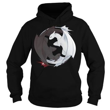 Toothless and the Light Fury t shirt Hoodie