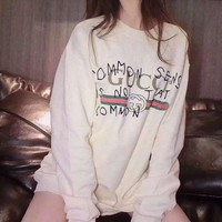 Gucci Fashion Printed Letters Round Neck Long Sleeve Tops Sweater