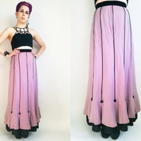 Long Mauve Skirt 1930s Style Vintage Skirt Costume Piece Skirt Skirt 25 Waist