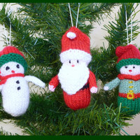 3 Knitted Christmas Decorations