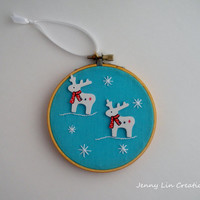 Reindeer Christmas Ornament Holiday Decoration