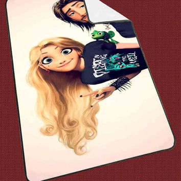 """tangled rapunzel pierce the veil punk love Kids Blanket Game Blanket All Character Popular Game, Cute and Awesome Blanket for your bedding, Blanket fleece """"NP"""""""