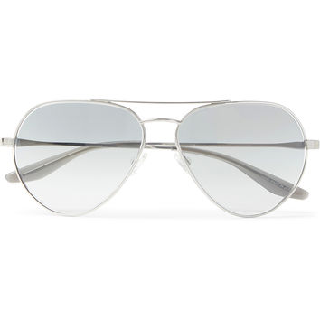 Barton Perreira - Commodore Aviator-Style Acetate and Silver-Tone Sunglasses