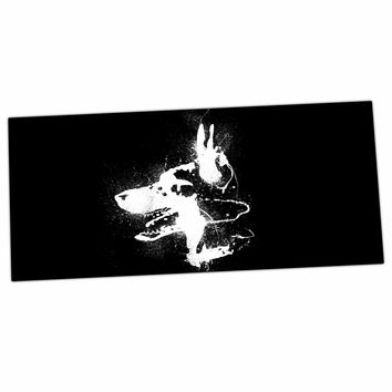"Barmalisirtb ""Watchdog"" Black White Desk Mat"