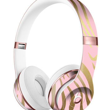 Pink Gold Flaked Animal v5 Full-Body Skin Kit for the Beats by Dre Solo 3 Wireless Headphones
