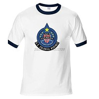 New United States Colonial Marine Corps Aliens Printed Men's Fashion T shirt Hipster Tops Cool raglan Sleeve Tees