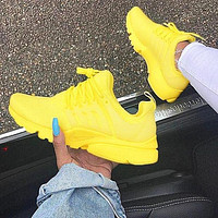 """NIKE""Air Presto Women Men Fashion Running Sport Casual Shoes Sneakers Yellow soles H-AA-SDDSL-KHZHXMKH"