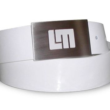 White Patent Leather Belt